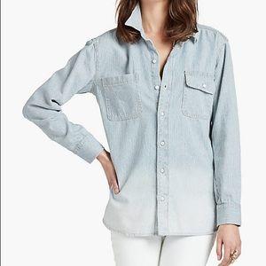Lucky Brand Women's Boyfriend Denim Shirt Medium